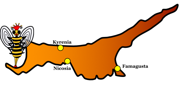 Map of North Cyprus